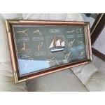Картина апликация на морска тема, възли - 1824