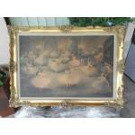 Прекрасна стара картина масло върху фазер - 1830