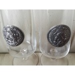 Двойка чаши с монограм - 1799