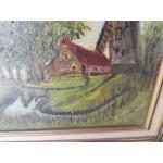 Малка картина масло с подпис - 1782