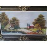 Голяма маслена картина с подпис - 1783