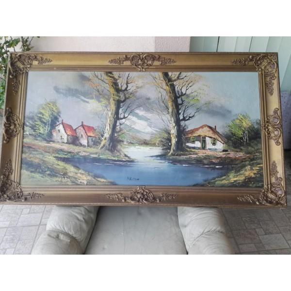 Огромна картина масло с подпис - 1789