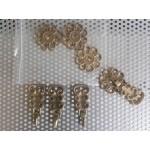 Месингови двойни дръжки за шкаф,гардероб или кухня - 2485
