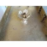 Френска църковна маса с уникални орнаменти от месинг - 2390