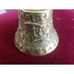 Много плътна и стара месингова камбана с герб и надписи - 2500