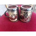 Двойка високи чаши за чай или кафе с покритие от злато - 2501