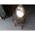 Конзола за стена с мрамор цветен и брутално красиво огледало - 3849