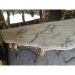 Находка - две еднакви барокови конзоли месинг с големи кралски огледала - 4119