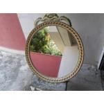 Кръгло средно бароково огледало в стил шаби шик - 4121