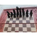 Шах и табла от Индия в релефна дървена кутия - 4162