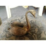 Поставка за салфетки лебед от плътен месинг - 4177