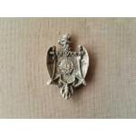Малък стар фамилен герб от месинг - 1958