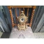 Стенен механичен часовник от бронз - 1882