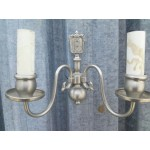 Двойка аплици метал имитиращ сребро - 1888