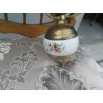 Прекрасен единичен полилей с оникс и цветно стъкло - 1895
