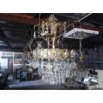 Огромен пет етажен полилей от цветен метал и кристали - 1900