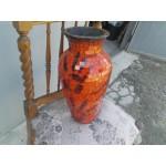 Голяма глинена ваза със стъклена обвивка - 1903