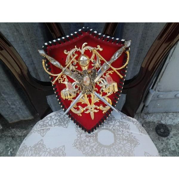 Апликация за стена с рицари и гербове - 1848