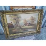 Стара маслена авторска картина - 1855