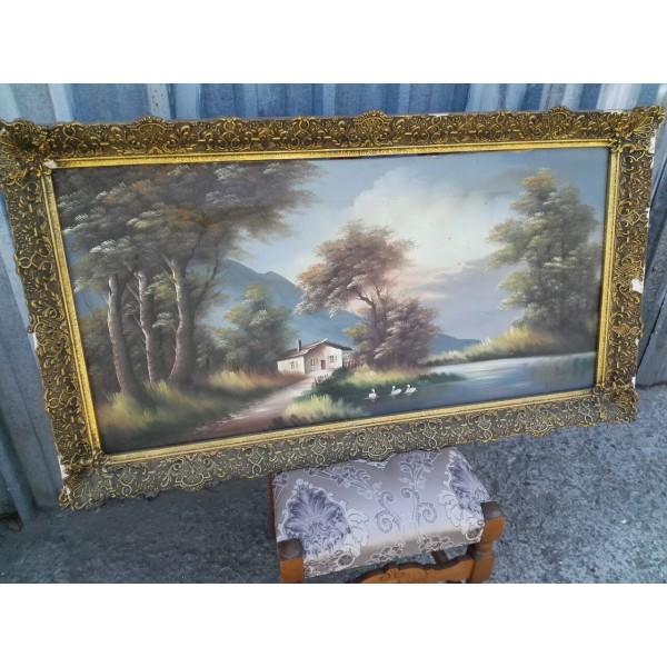 Огромна авторска картина масло - 1857