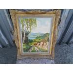Малка картина масло върху фазер - 1861