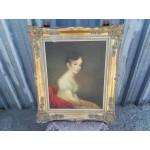 Прекрасна картина масло върху фазер - 1864