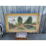 Огромна авторска картина масло - 1867