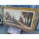 Огромна маслена авторска картина - 1869