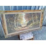 Огромна маслена авторска картина - 1871