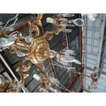 Месингов полилей с кристали шестица - 1807