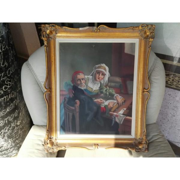 Много стара маслена картина масло - 1815
