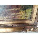 Много стара авторска картина масло - 1827