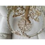 Прекрасен бароков полилей от месинг - 1792