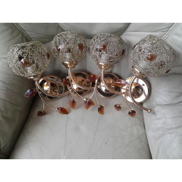 Четири броя аплици с метал и стъкло от Германия - 1798