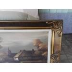 Голяма картина масло с подпис - 1780