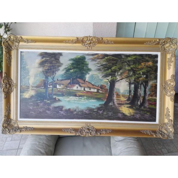 Голяма маслена картина с подпис - 1788