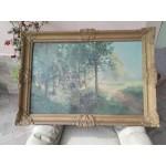 Голяма стара белгийска картина барок - 1717