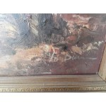 Страхотна голяма картина барок - 1723