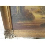 Голяма много стара картина от Белгия - 1742