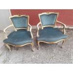 Две малки барокови кресла в стил шаби шик испания - 4134