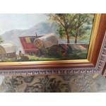 Сет картини масло на платно Испания, един автор, страхотни дъбови рамки - 4151