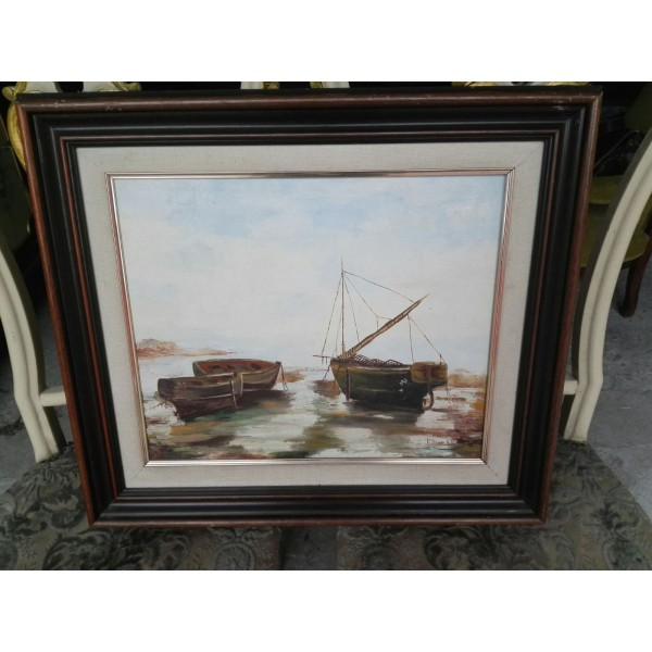 Средна картина масло на платно Испания - 4155