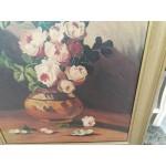 Стара картина авторска масло на платно Испания - 4156