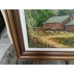 Стара авторска картина масло на платно Испания - 4157