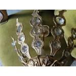 Много красив месингов полилей с обработени кристали Испания - 4123
