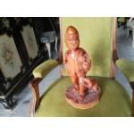 Статуетка дърво на мъж с куче от Испания - 4126
