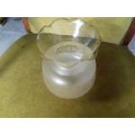 Буркан опушено рисувано стъкло Испания,за полилей или нощна лампа - 4132