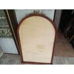 Средно елипсовидно огледало дъб с месингова декорация от Испания, с ново огледало - 3833