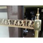 Голяма разглобяема рамка от плътен месинг с декорации - 2476