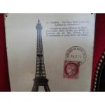 Метална рекламна табела на Париж, ретро вид - 2365
